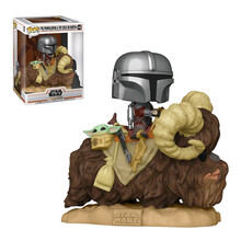 Star Wars, The Mandalorian with the Child on Bantha, Funko Pop!: figura coleccionable